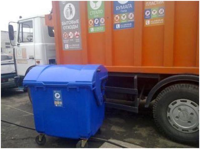 Контейнера 120 литров, пластиковые на 2-х колесах